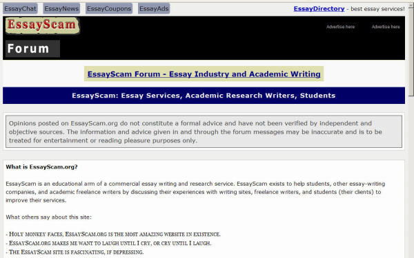 essay sites scams