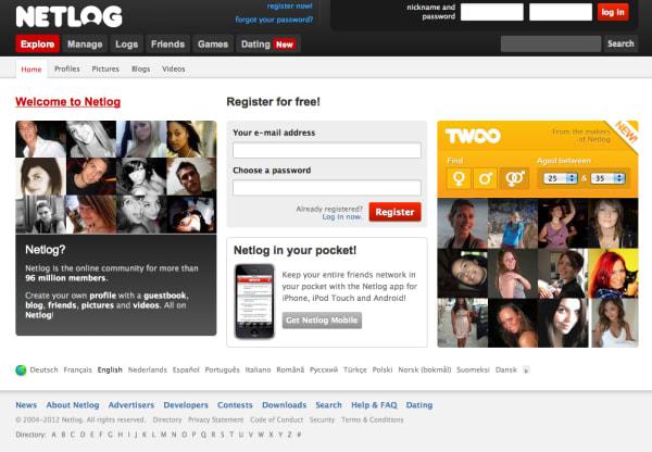 Dating site netlog