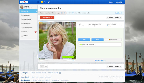 Dating site zoosk uk