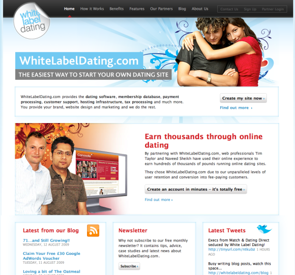 White label dating service