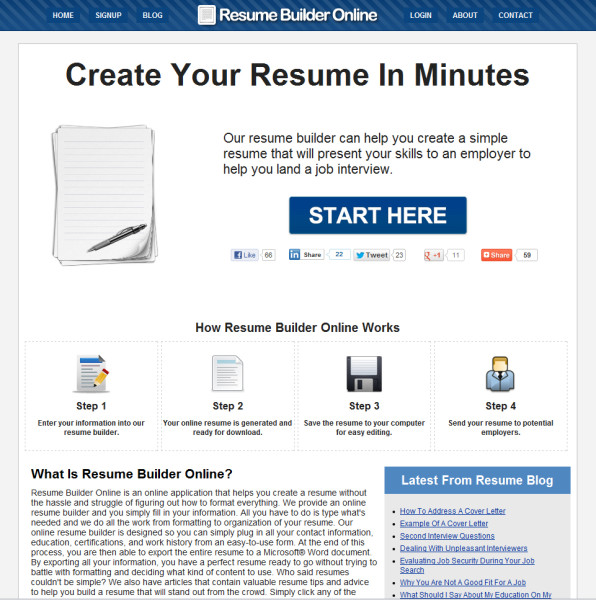 Online resume builder for freshers
