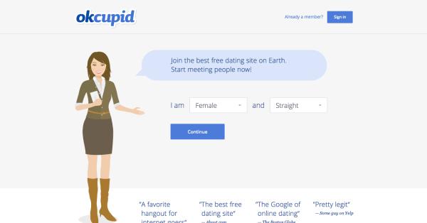 Free dating sites similar to okcupid