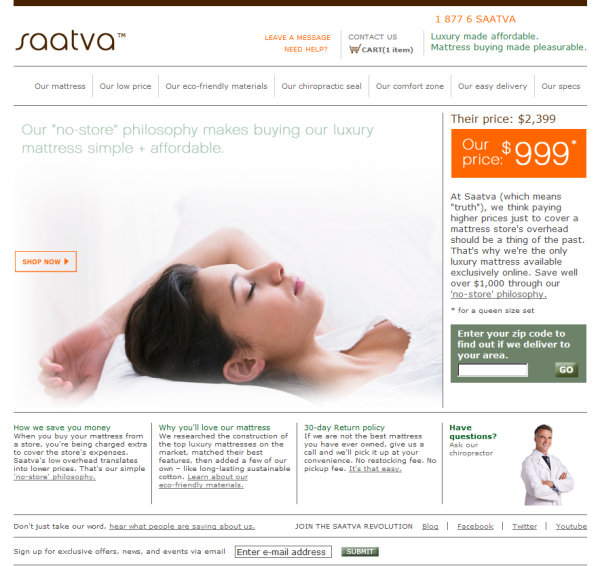 Saatva coupon code