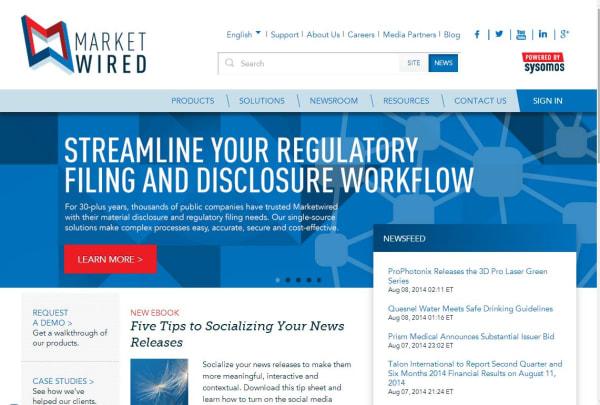Marketwired | crunchbase