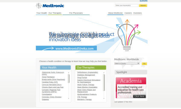 Organizational structure medtronic