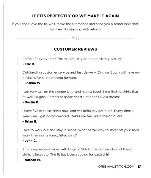 Original stitch crunchbase for Original stitch shirt review
