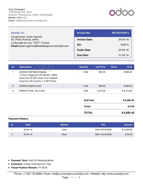 Odoo Clever Multiple Invoice Templates App – Invoicing Templates